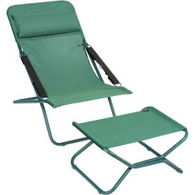 Lafuma Mobilier Transabed Tumbona para el sol con Cannage Phifertex, verde